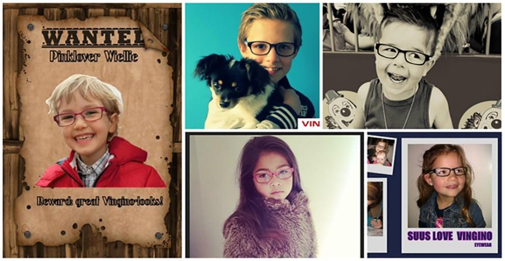 """""""Maak een foto met Vingino bril van jezelf"""" 2013"""