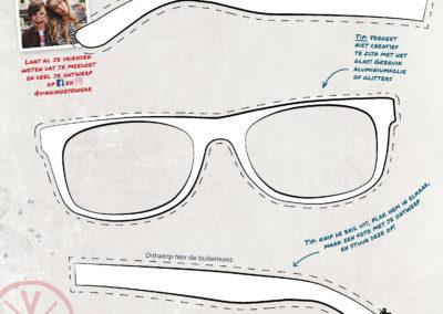 Kleurplaat-ontwerp je zonnebril